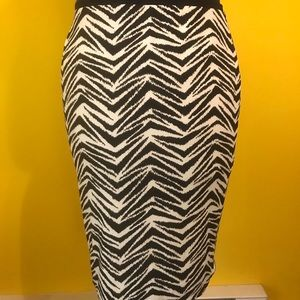 WHBM reversible zebra skirt